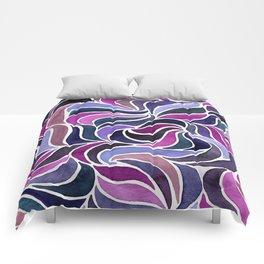 Magenta Currents Comforters