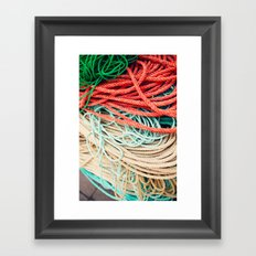 Sailor Rope  Framed Art Print