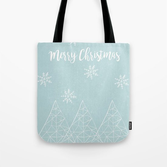 Merry Christmas Mint Tote Bag