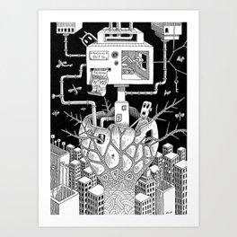 The Cocoon Art Print