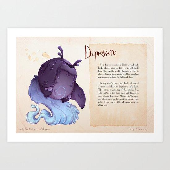 Real Monsters- Depression Art Print