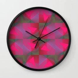 Geometric Strawberries Wall Clock