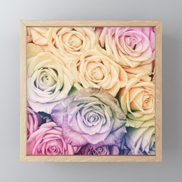 Some people grumble - Colorful Roses - Rose pattern Framed Mini Art Print