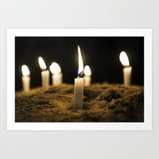 Candle in the Wind Art Print