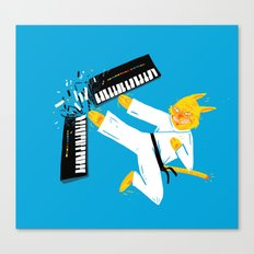 Karate Cat Canvas Print