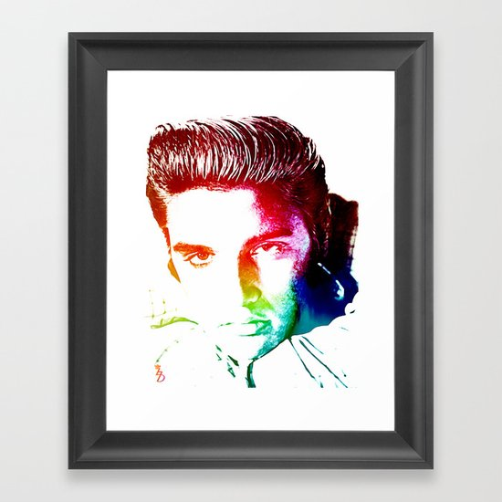 Elvis Framed Art Print