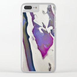 Abstract Acrylic in Purple Rose Gold White Clear iPhone Case