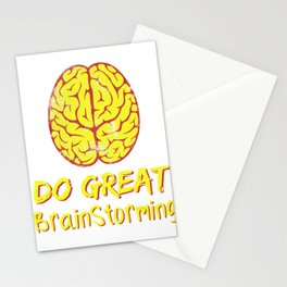 Problem Solving or Brainstorming Tshirt Design Do great brain storming Stationery Cards