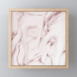 Red marble pattern Framed Mini Art Print