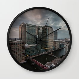 London, Canary Wharf from above Wall Clock