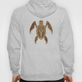 Intricate Vintage and Cracked Sea Turtle Hoody