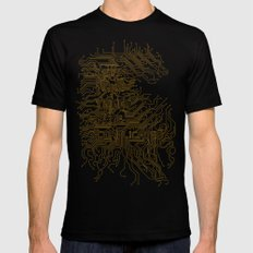 Let's Make Things More Complicated. Mens Fitted Tee Black MEDIUM
