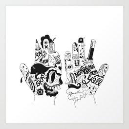Ono Digitalis Art Print