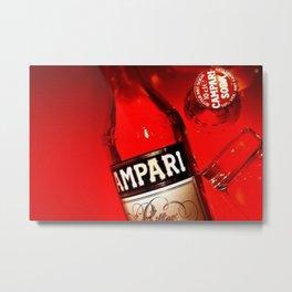 Vintage Red Cordial Campari Advertisement Metal Print