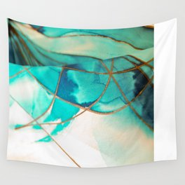 Teal on Silk Wall Tapestry