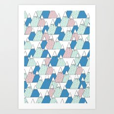 WINTER MOUNTAIN Art Print
