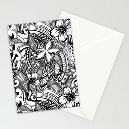 Hawaiian Polynesian Trbal Tatoo Print Stationery Cards