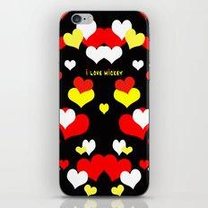 I Love Mickey iPhone & iPod Skin