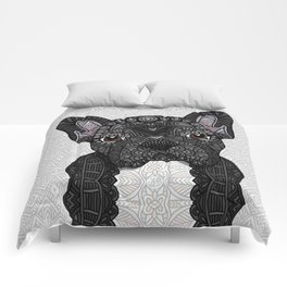 Black Frenchie 001 Comforters