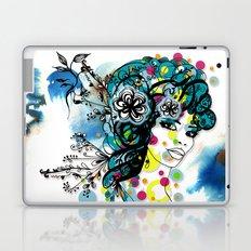 floral girl 2 Laptop & iPad Skin