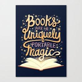 Books are magic Canvas Print