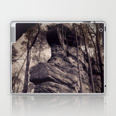 Rock in a mystical forest Laptop & iPad Skin