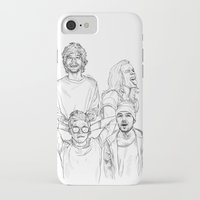 one direction iPhone & iPod Cases featuring One Direction by Cécile Pellerin