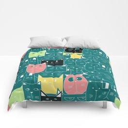 cute kitty pattern Comforters