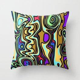 Cartoon colorful fantasy Throw Pillow