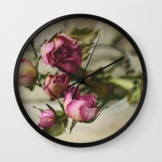Yesterday's Roses Wall Clock