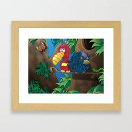 A Feathery Friendship Framed Art Print