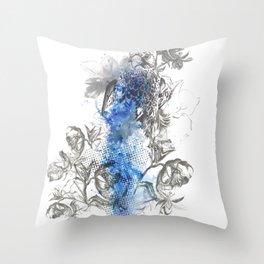 Hawk Illustration Throw Pillow