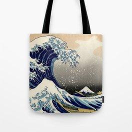 The Great Wave off Kanagawa Hokusai Tote Bag