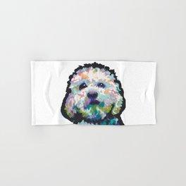 maltese poodle Maltipoo Dog Portrait Pop Art painting by Lea Hand & Bath Towel