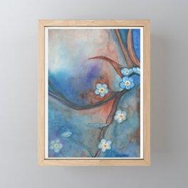 Forget Me Nots Framed Mini Art Print