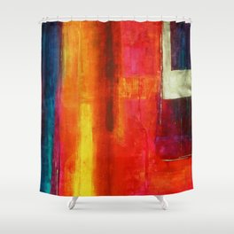 Philip Bowman Color Fields II Modern Abstract Art Painting Shower Curtain