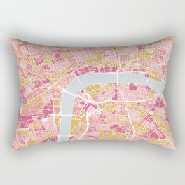 Colorful London map Rectangular Pillow