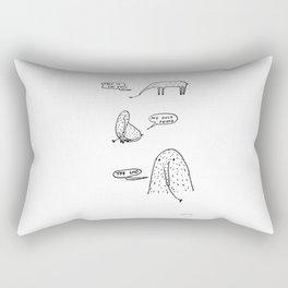 Anteaters who sing depressive hits Rectangular Pillow