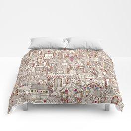 gingerbread town Comforters