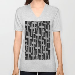Wall of Crosses Unisex V-Neck
