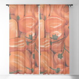 Habanero Peppers Sheer Curtain
