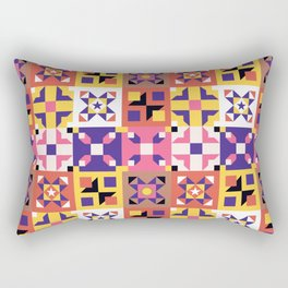Maroccan tiles pattern with pink and purple no3 Rectangular Pillow