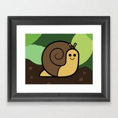 Cutesy Crawlies — Snail Framed Art Print
