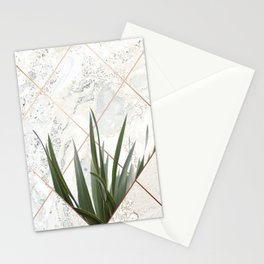 Copper & Marble & Leaves Stationery Cards