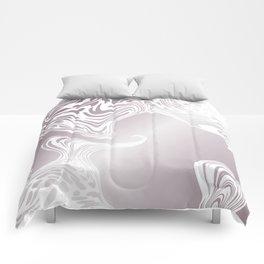 Rose Gold Liquid Marble Effect Design Comforters