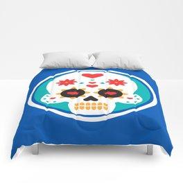 Latin Love Mexican Pride Dias De Los Muertos Cute Heart Smiling Sugar Skull Comforters