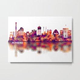 Athens Greece Skyline Metal Print