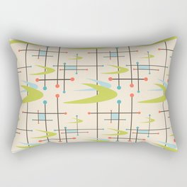 Mid Century Modern in Lime and Blush Rectangular Pillow