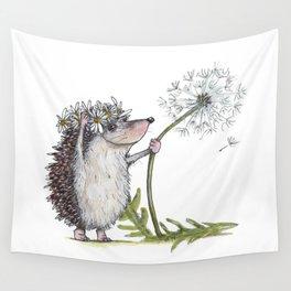 Hedgehog & Dandelion Wall Tapestry