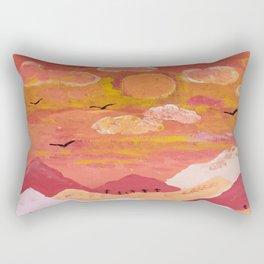 Mountains at day Rectangular Pillow
